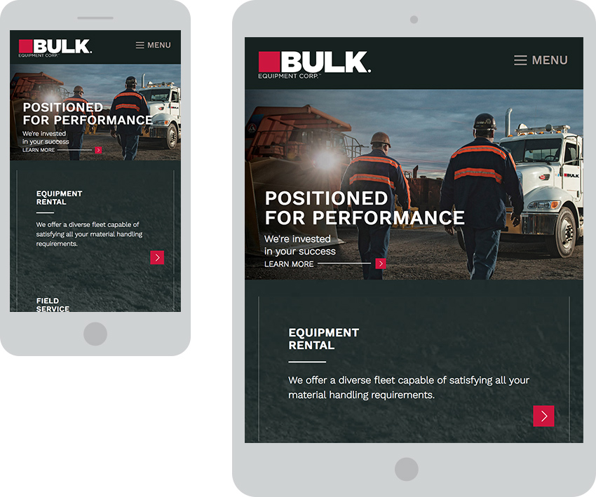 Bulk Responsive Website Design