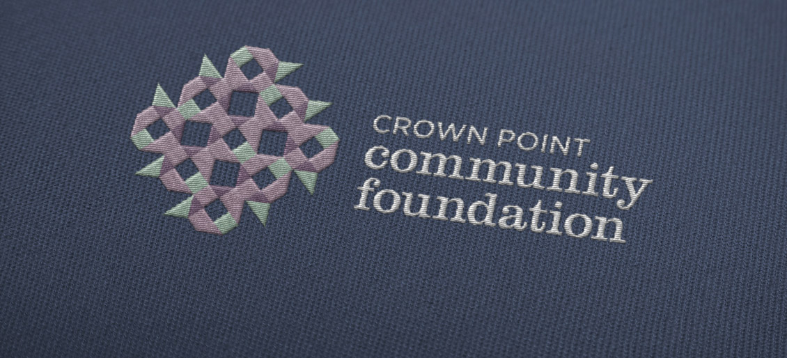 Crown Point Community Foundation Logo Redesign Embroidery