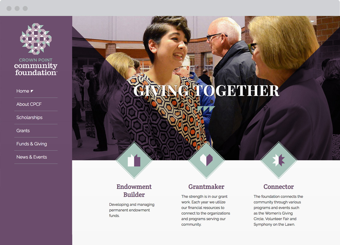 Crown Point Community Foundation Website Redesign