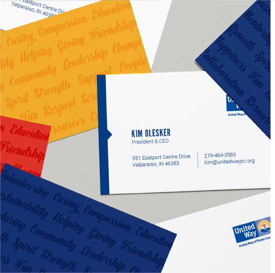United Way business cards
