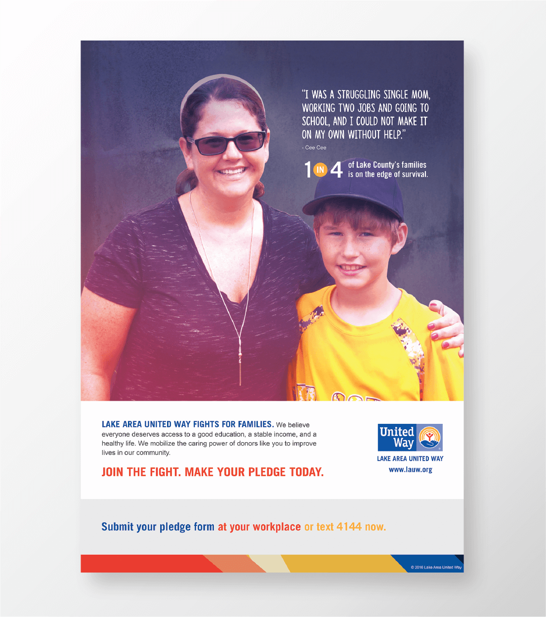 United Way print ad